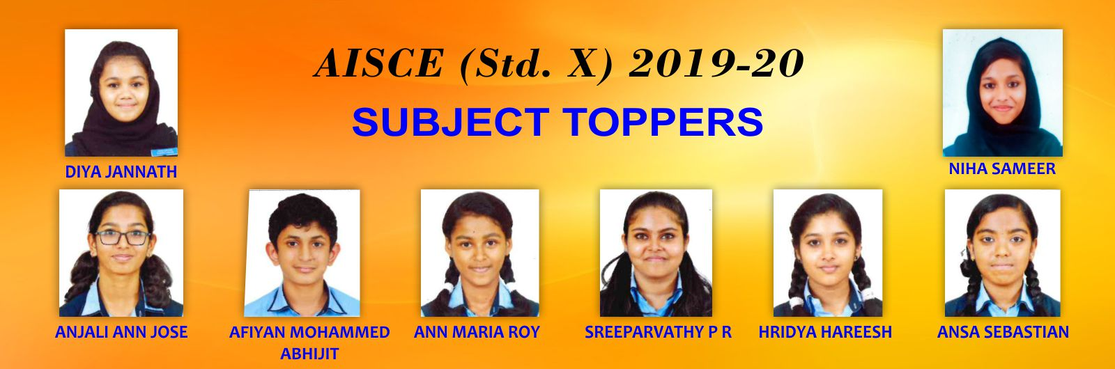 slide 5 subject toppers in std X